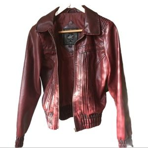 Beverly Hills Polo Club faux leather jacket Med
